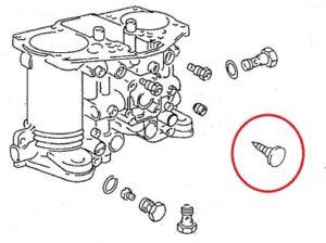 Adjusting Screw - 356 Solex carb