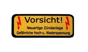 High Voltage Coil & CD Box Decal