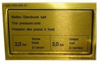 930 Tire Pressure Decal (78-86)