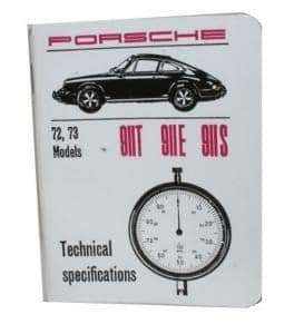 911 1972-73 SPECIFICATIONS