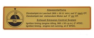 Timing Decal  912  (65-69)