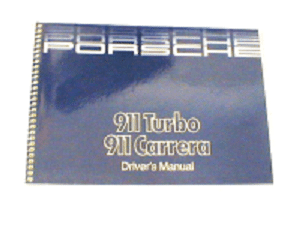 1987 Owners Manual 911 Turbo/Cab