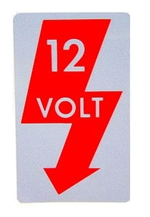 Fuse Cover 12 Volt Voltage Decal