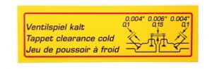 VALVE CLEARANCE DECAL SUPER 90SC - Image 2