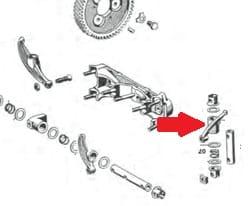 ROCKER ARM SHORT 356B /S90/C/ SC