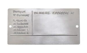911 Identification Plate 78-95