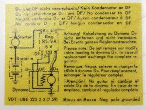 Voltage Regulator Decal 356
