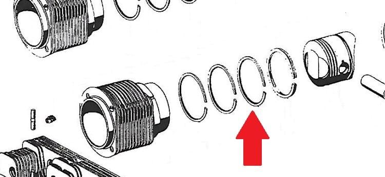 piston ring set for big bore 85m for porsche 356