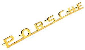 PORSCHE EMBLEM GOLD 356A