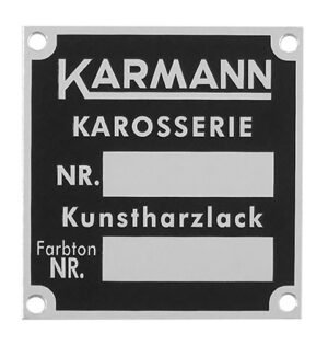 KARMANN CHASSIS / PAINT PLATE
