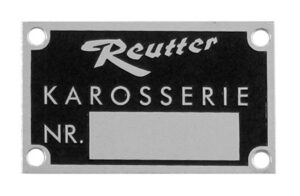 REUTTER CHASSIS PLATE